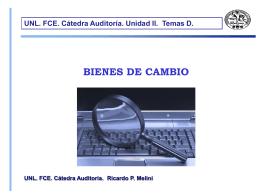 BIENES DE CAMBIO UNL. FCE. Cátedra Auditoría. Unidad II