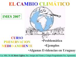 EL CAMBIO CLIMATICO - IMES - Instituto Militar de Estudios