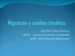 Migración y cambio climático