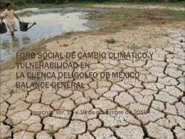 Foro Social de Cambio Climático y Vulnerabilidad en