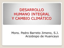 DESARROLLO Y CAMBIO CLIMÁTICO