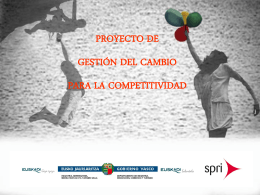 proyecto de gestión del cambio para la competitividad