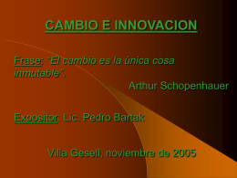 Pedro Bartak - Cambio e Innovacion