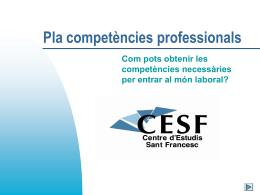 Plà de Competències Professionals