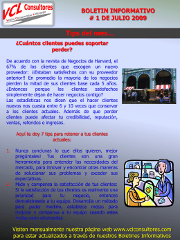 Boletin # 1 Julio 09 - Boletín VCL