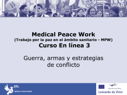 Medical Peace Work Course 3