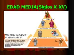 EDAD MEDIA(Siglos X-XIV)