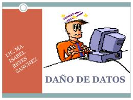 DAÑO DE DATOS