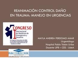 reanimación control daño en trauma