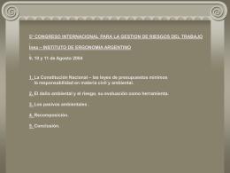 daño ambiental - InEA - Instituto de Ergonomía Argentino