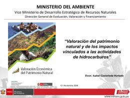 Valoración Económica del Capital Natural