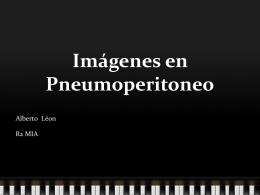 Imágenes en Pneumoperitoneo