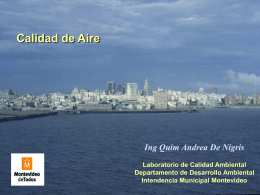 Monitoreo de Emisiones - GAM - Grupo Ambiental de Montevideo