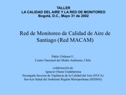 Red de Monitoreo de Calidad de Aire de Santiago (Red MACAM)