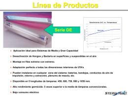 Línea de Productos 4 Aplicación ideal para Sistemas - Steril