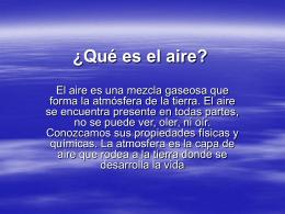 ¿Qué es el aire?