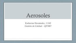 Aerosoles - Universidad del Valle de Guatemala