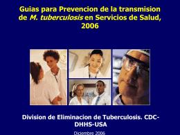 Guía Para la Prevencion de la Transmision de M.Tuberculosis