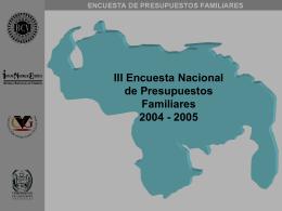 III Encuesta Nacional de Presupuestos Familiares