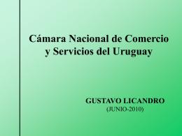 Ec. Gustavo Licandro Bosc - Cámara Nacional de Comercio y