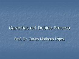Garantías del debido proceso