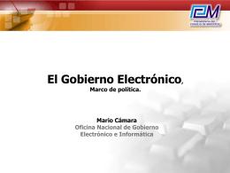 Gobierno Electrónico y la Agenda Digital Peruana