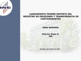 Lanzamiento Primer Reporte del Registro de Emisiones y