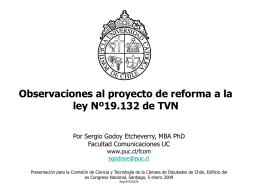 Presentación S. Godoy - Facultad de Comunicaciones