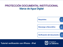 Tutorial para Apple - Universidad de La Sabana