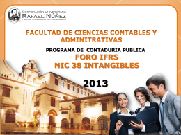 FORO IFRS NIC 38