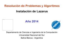 Clase 1 - 2014 - Instalacion Lazarus