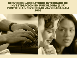 servicios del liip - Pontificia Universidad Javeriana, Cali