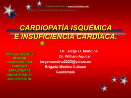Cardiopatía Isquémica e Insuficiencia Cardíaca