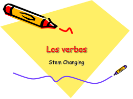 Stem Changing Verb Stations
