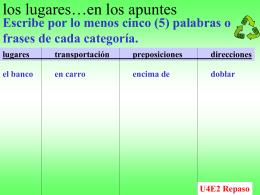 U4E2Repaso - Amboy Spanish 2