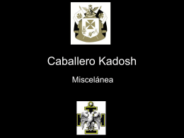 30° Grado – Caballero Kadosh