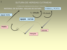 SUTURA DE HERIDAS CUTÁNEAS