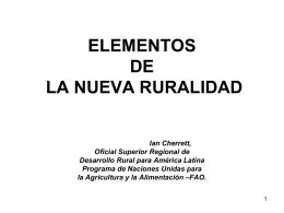 Elementos de la nueva ruralidad
