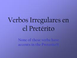 Preterito 4 (irregulares)