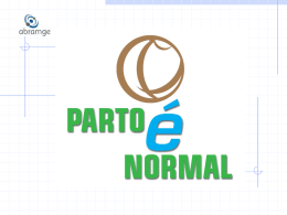 PARTO é NORMAL - Movimento BH pelo Parto Normal