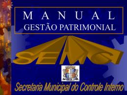 Manual Gestão de Patrimônio - SEMCI2009