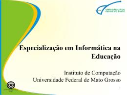 Especialização em Informática na Educação