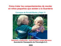 Cómo tratar los comportamientos de morder en niños