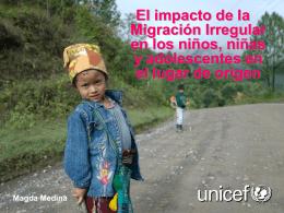 El impacto de la Migración Irregular en los niños, niñas