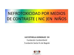 nefrotoxicidad por medios de contraste en niños