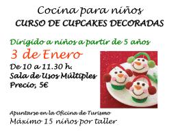 Cocina para niños CUPCAKES DECORADAS