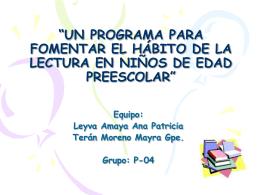 Programa de Lectura Preescolar