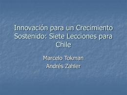 Documento apoyo Sr. Marcelo Tokman, coordinador de