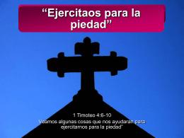 """""""Ejercitaos para la piedad"""" - Escuela Teologica Misional & Ministerial"""