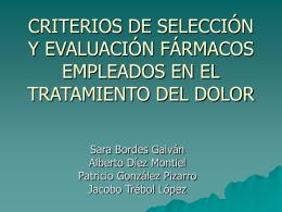 criterios de selección y evaluación fármacos
